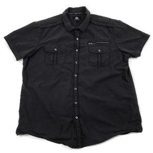 Rock & Republic Short Sleeve Button Down XL